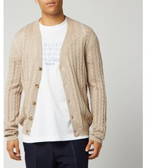 maison margiela men's knitted cardigan - rope - m