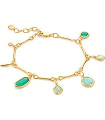 gold siren tonal multi drop bracelet mix