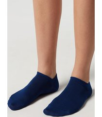 calzedonia unisex cotton no-show socks man blue size 34-36