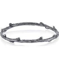 t.r.u. by 1928 pewter tone finish tree bangle bracelet
