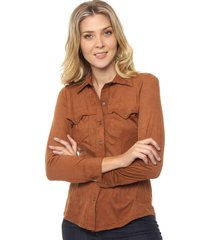 camisa marrón prussia jeanera