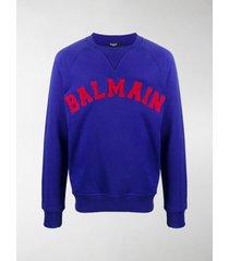 balmain logo-embroidered sweatshirt