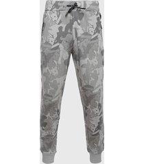 pantalón de buzo colo colo camuflado gris - calce regular