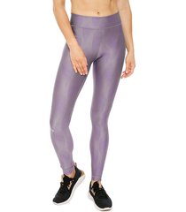 calza under armour ua hg legging metallic morado - calce ajustado