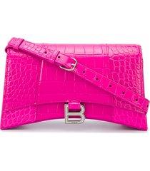 balenciaga hourglass baguette shoulder bag - pink
