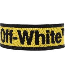 off-white yellow bracelet