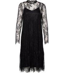 pzlaurine dress knälång klänning svart pulz jeans