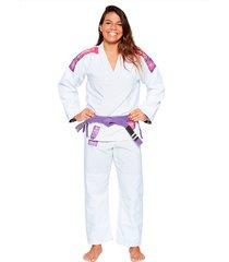 kimono jiu jitsu atama trançado ultra light 2.0 feminino - branco