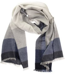 brunello cucinelli wool and cashmere check scarf