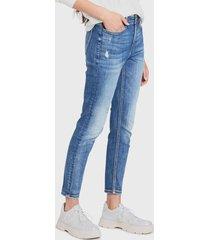 jeans desigual denim trousers arty 1 azul - calce ajustado