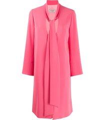 alberto biani v neck robe coat - pink