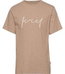 slope t-shirt t-shirts short-sleeved beige forét