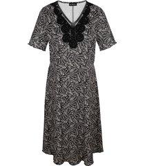 jurk m. collection beige::zwart