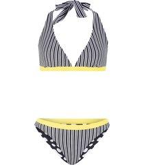 bikini reversibile con allacciatura sulla nuca (nero) - bpc bonprix collection