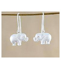 sterling silver dangle earrings, 'gleaming cuties' (thailand)
