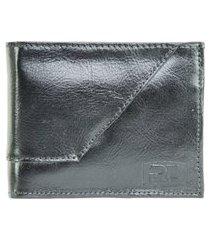 bauarte - carteira de couro com detalhe pesponto bauarte - carteira de couro com detalhe pesponto preto