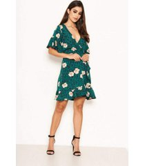 ax paris women's floral print wrap dress