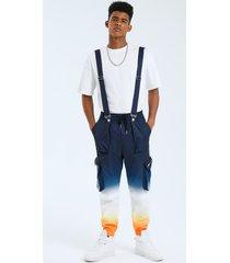 tirantes con cordón de color degradado estilo hip hop para hombre carga pantalones