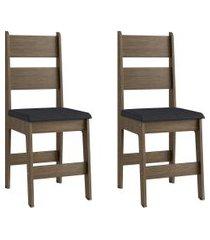 conjunto de cadeiras móveis canção milano 2 pçs fosco