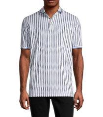 greyson men's printed polo shirt - arctic - size xl