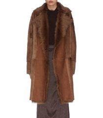 'jathan' lambskin shearling panelled coat