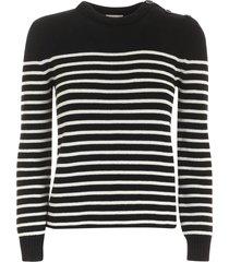 saint laurent striped pattern pullover