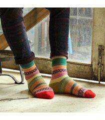 unisex calze alla caviglia in cotone a strisce in multicolori fashion e casual