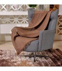 manta capa sofa algodão favo 1,60m x 2,20m taupe - tessi