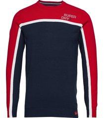 downhill slalom crew sweat-shirt trui multi/patroon superdry