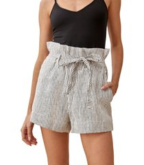 reformation theodore paperbag waist shorts, size 4 in vineyard at nordstrom