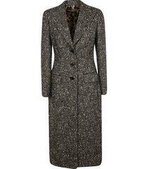 dolce & gabbana all-over checked coat