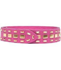alberta ferretti stud-embellished belt - 1238 fucsia