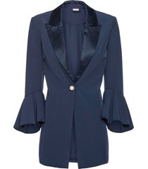 blazer con bottone gioiello (blu) - bodyflirt boutique