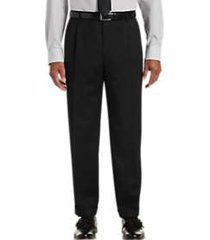 joseph & feiss black classic fit pleated dress pants