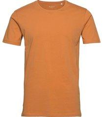 alder basic tee t-shirts short-sleeved brun knowledge cotton apparel