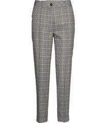 crop leisure trouser pantalon met rechte pijpen grijs gerry weber