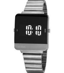 relógio digital seculus masculino - 20871g0svna2 prateado