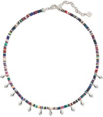 "kendra scott disc-bead & stud charm choker necklace, 15"" + 2"" extender"