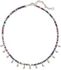 "kendra scott disc-bead & stud charm choker necklace, 15"" + 2"" extender"