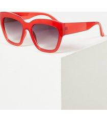 lane bryant women's red d-frame sunglasses onesz venetian red