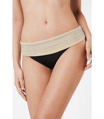 calzedonia grace high-waisted bikini bottom woman black size 5