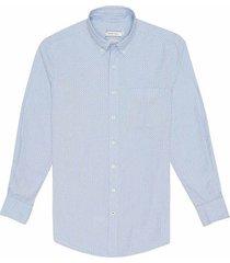 camisa casual manga larga estampada slim fit para hombre 97716