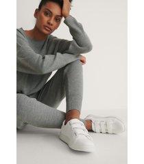 na-kd shoes sneakers med kardborreband - white