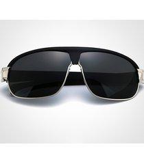 occhiali da sole polarizzati anti-uv degli uomini di modo occhiali da sole all'aperto di grande schermo uv400 della struttura all'aperto