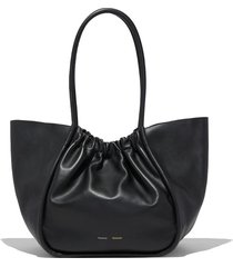 ruched l tote