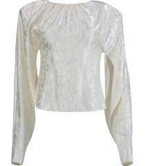 blouse blurred jacquard
