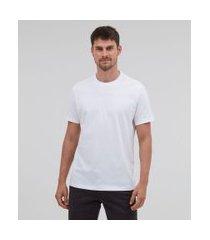 camiseta comfort em algodão peruano lisa | marfinno | branco | m