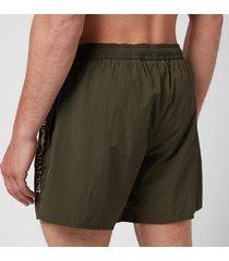 emporio armani men's boxer swim shorts - green - xl
