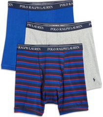 polo ralph lauren assorted 3-pack boxer briefs, size small in blue multi at nordstrom