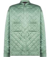 haider ackermann embroidered quilted silk jacket